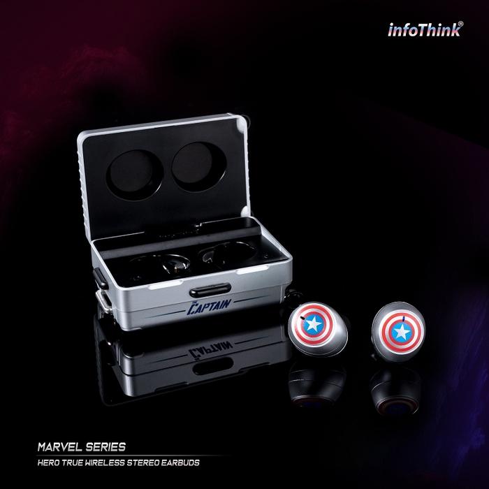 InfoThink|漫威系列Les héros真無線藍牙耳機(美國隊長)