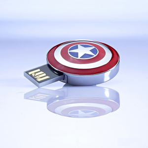 InfoThink|復仇者聯盟造型隨身碟-美國隊長盾牌 8GB