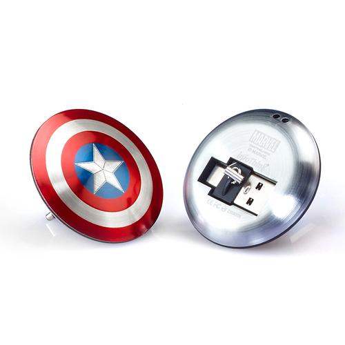 InfoThink|漫威美國隊長超薄盾牌TYPE C / USB雙頭隨身碟-16GB