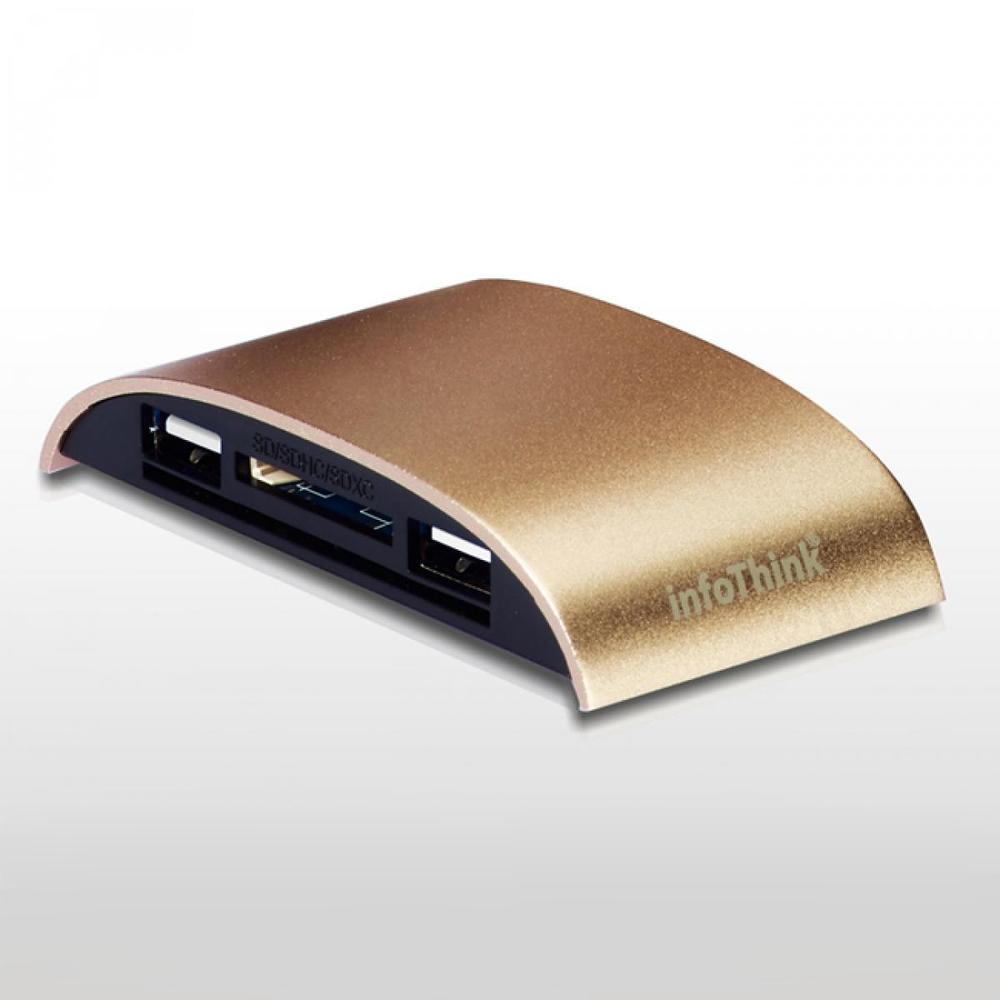 InfoThink|玩美弧線 ATM x HUB 多合一片讀卡機 IT-928U