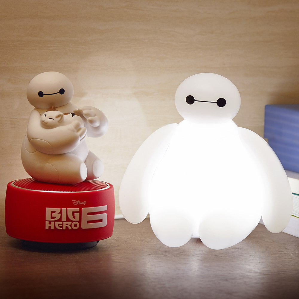 InfoThink|大英雄天團Baymax杯麵USB造型燈 x 公仔藍牙燈光喇叭組合