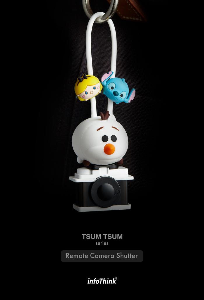 InfoThink 迪士尼TSUM TSUM藍牙遙控自拍器-雪寶