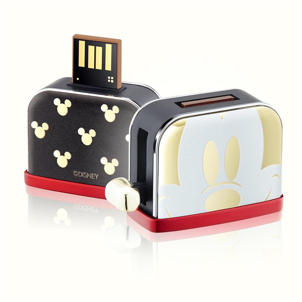 InfoThink|米奇系列烤吐司機造型隨身碟(90周年紀念聖誕金款)-32GB
