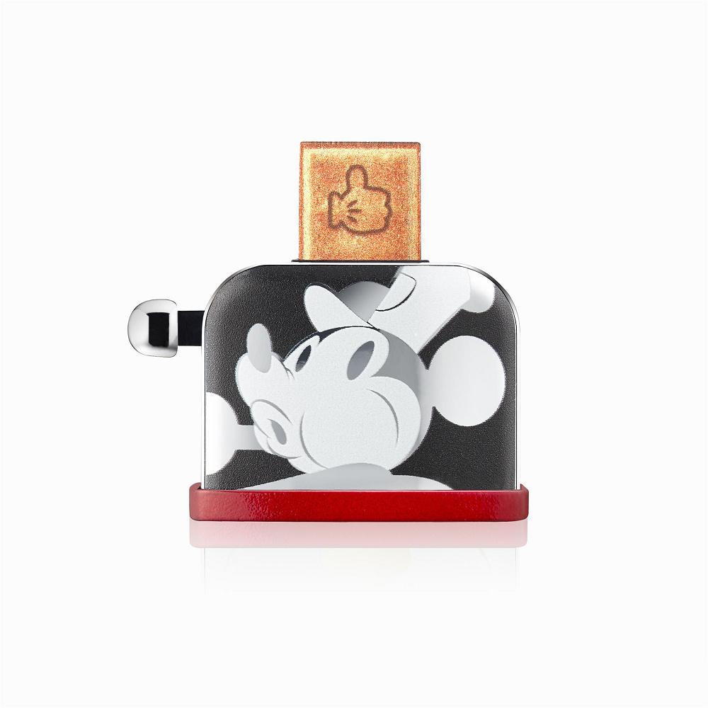 InfoThink|米奇系列烤吐司機造型隨身碟(90周年紀念銀色款)-32GB