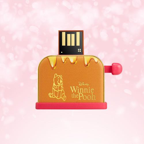 InfoThink|小熊維尼系列蜂蜜吐司機隨身碟(櫻花限定版)-16GB