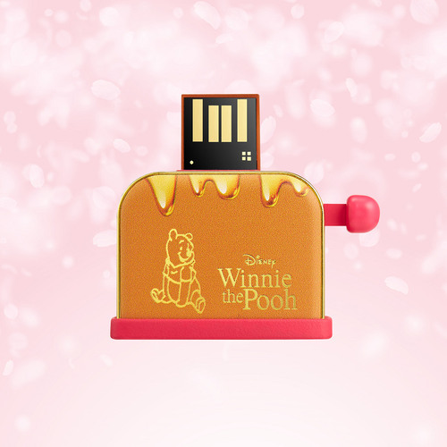 InfoThink|小熊維尼系列蜂蜜吐司機隨身碟(櫻花限定版)-32GB