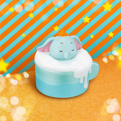InfoThink|泡泡歐蕾小夜燈收納盒-小飛象