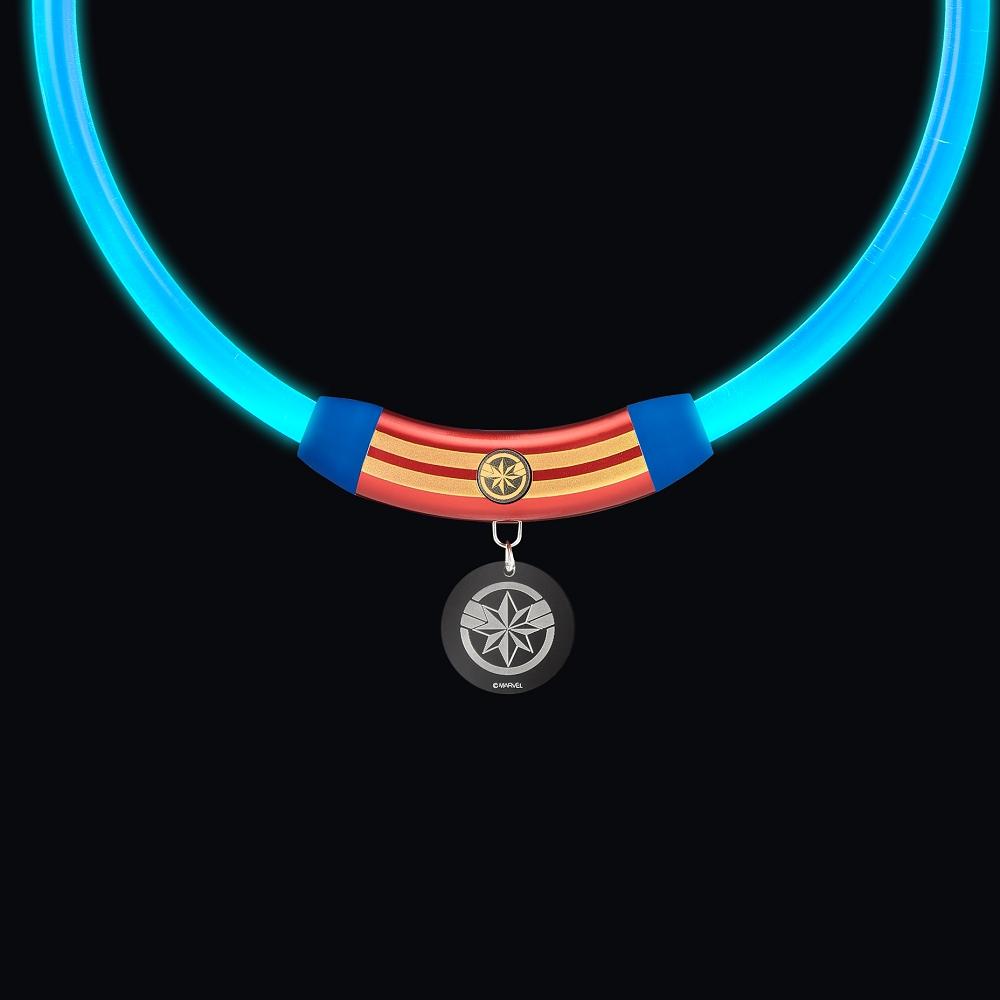 InfoThink|MARVEL復仇者聯盟寵物LED項圈-驚奇隊長