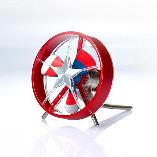 InfoThink 漫威美國隊長戰機螺旋槳USB風扇