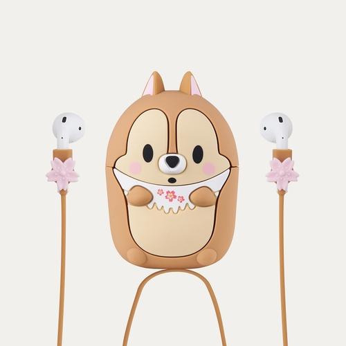 InfoThink|迪士尼櫻花季無線耳機造型保護套for AirPods(奇奇)