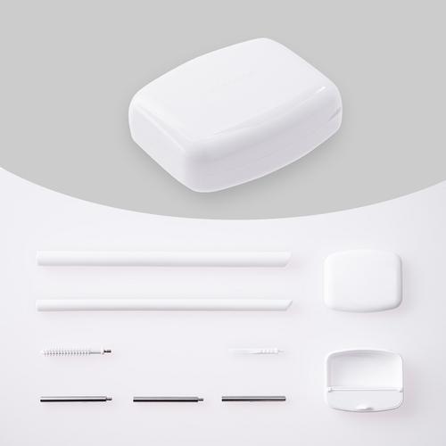 InfoThink|SUBA BOX 六合一環保吸管隨身盒(極地白)