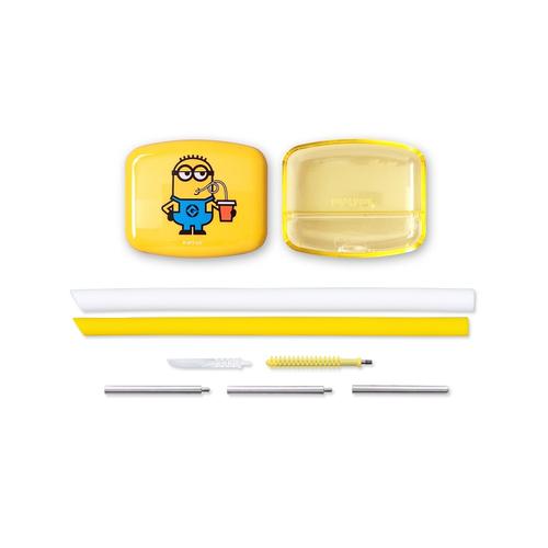 InfoThink|SUBA BOX 六合一環保吸管隨身盒(小小兵)