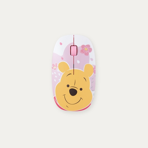 InfoThink|迪士尼小熊維尼系列無線光學靜音滑鼠(櫻花粉萌限定)