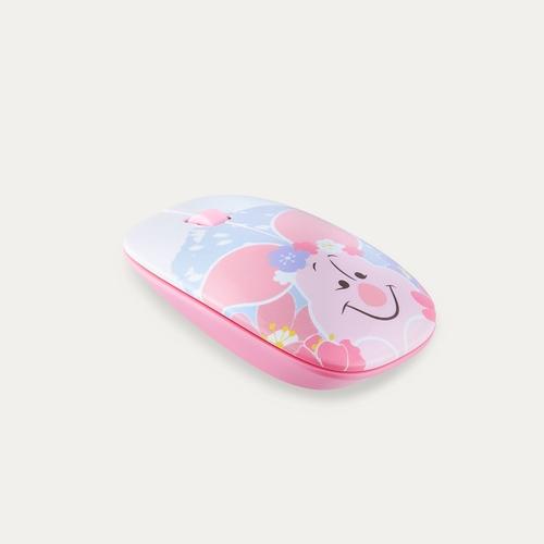 InfoThink|迪士尼小豬系列無線光學靜音滑鼠(櫻花粉萌限定)
