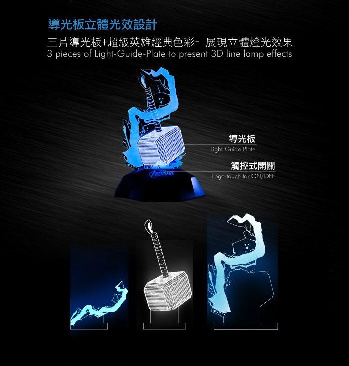 InfoThink 雷神鎚3D立光燈
