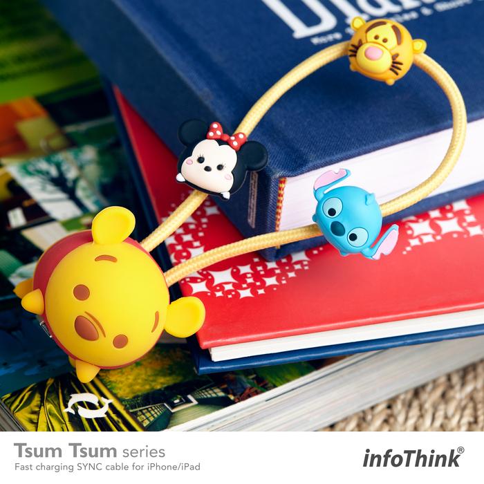 (複製)InfoThink|TSUM TSUM iPhone/iPad快充傳輸線-米奇