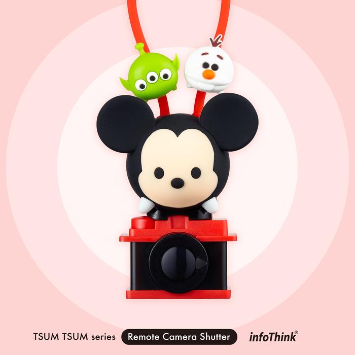 InfoThink|迪士尼TSUM TSUM藍牙遙控自拍器-米奇