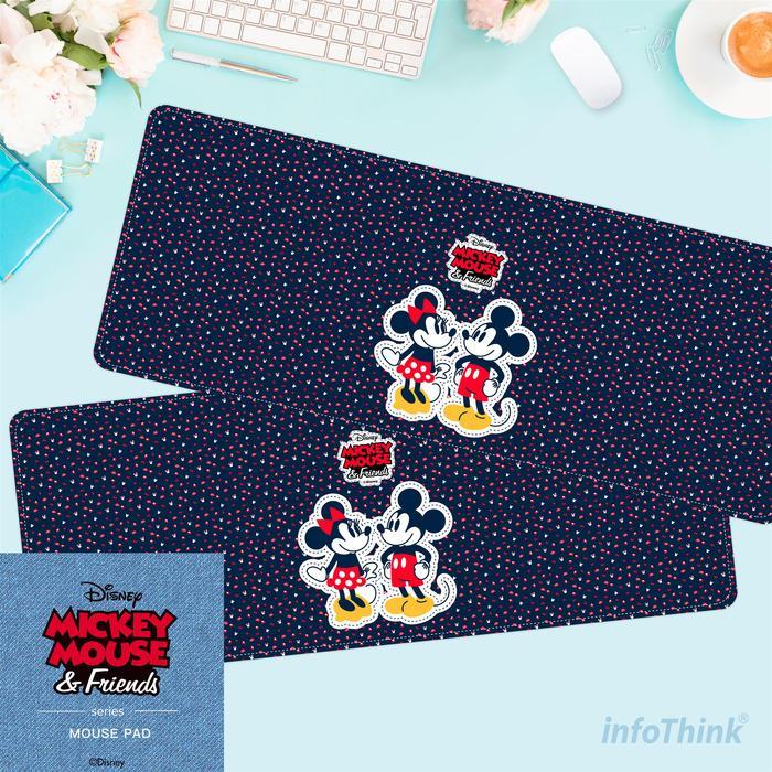 InfoThink|米奇系列滑鼠墊/桌墊(90周年紀念款)-情侶