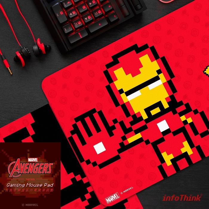 (複製)InfoThink|復仇者聯盟系列電競滑鼠墊(8bits戰鬥版)