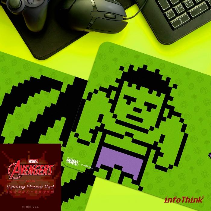 (複製)InfoThink 復仇者聯盟系列電競滑鼠墊(8bits索爾)