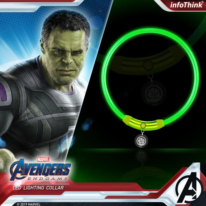 (複製)【ENDGAME限定】InfoThink|MARVEL復仇者聯盟寵物LED燈環-驚奇隊長