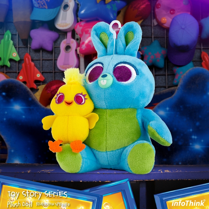 InfoThink 迪士尼玩具總動員系列絨毛藍牙喇叭-鴨霸與兔崽子