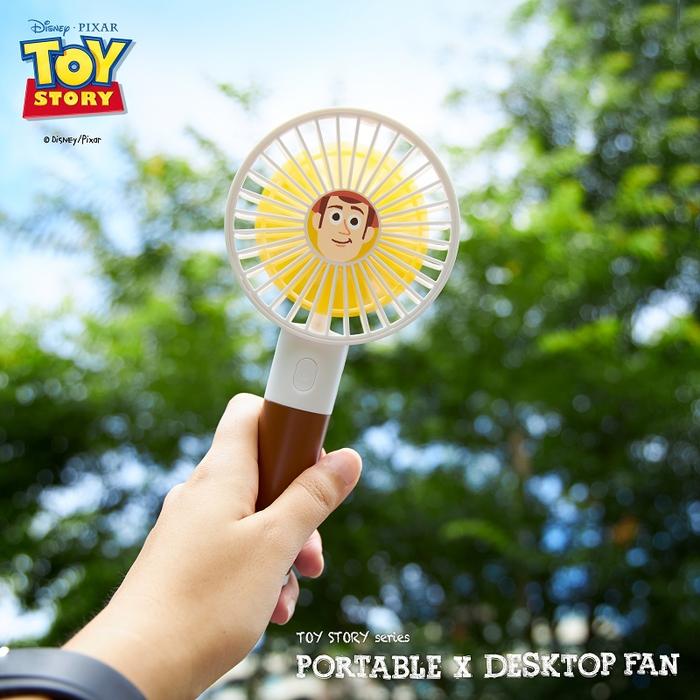 InfoThink|迪士尼玩具總動員系列行動x桌上兩用風扇 (2入組合)