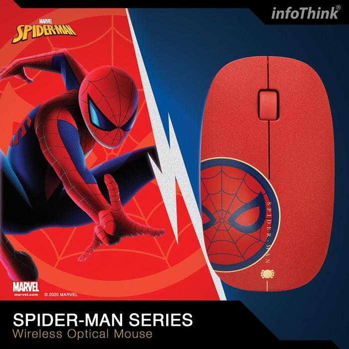 InfoThink|漫威蜘蛛人系列無線光學靜音滑鼠