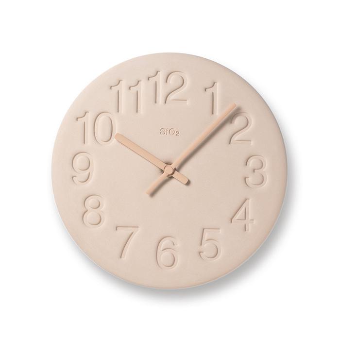 Lemnos|珪藻土時鐘-粉紅色