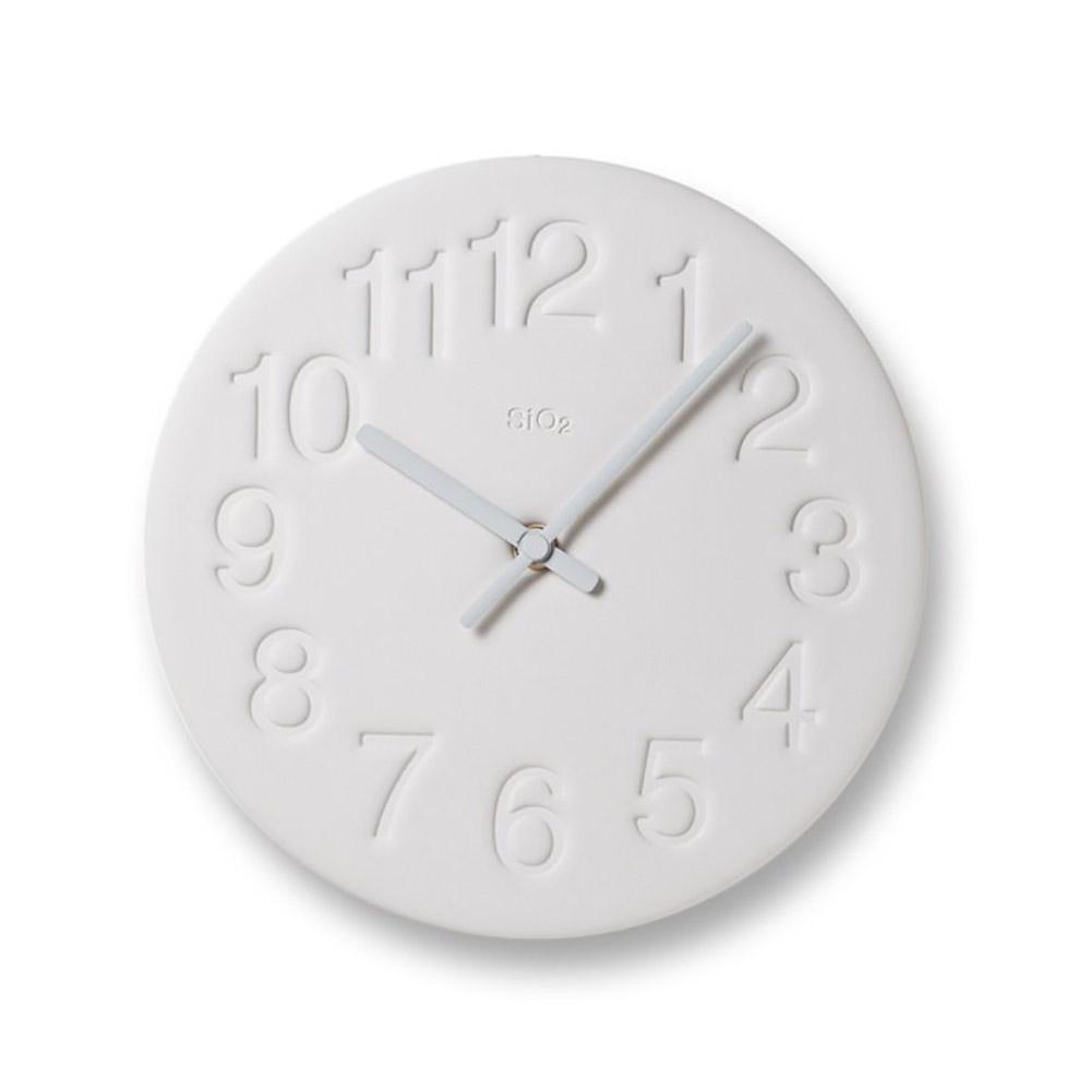 Lemnos|珪藻土時鐘-白色