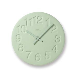 Lemnos|珪藻土時鐘-綠色