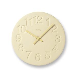 Lemnos|珪藻土時鐘-黃色