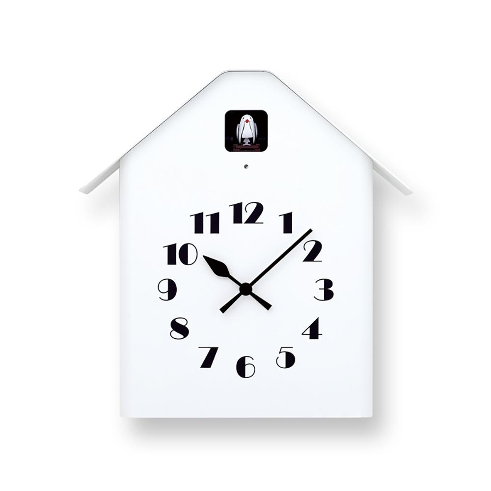 Lemnos|房型布穀鳥時鐘-白色