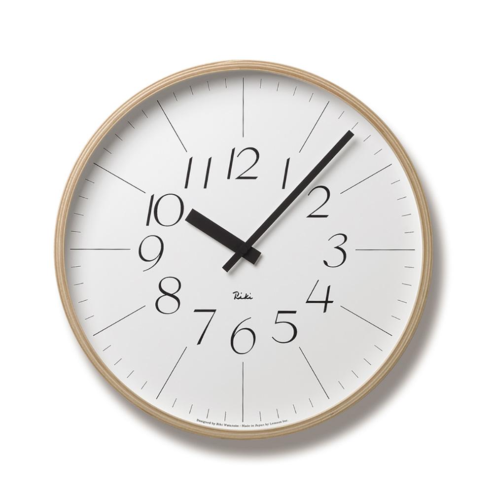 Lemnos|渡邊力木框簡約小字時鐘(大)