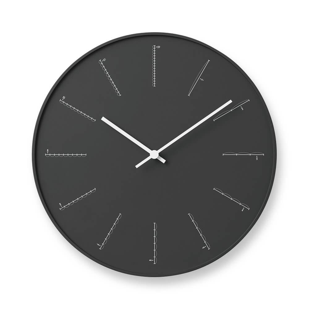 Lemnos|分割時鐘-黑色