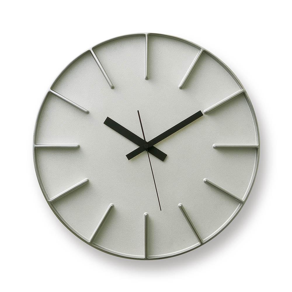 Lemnos|隔間大壁鐘-鋁本色