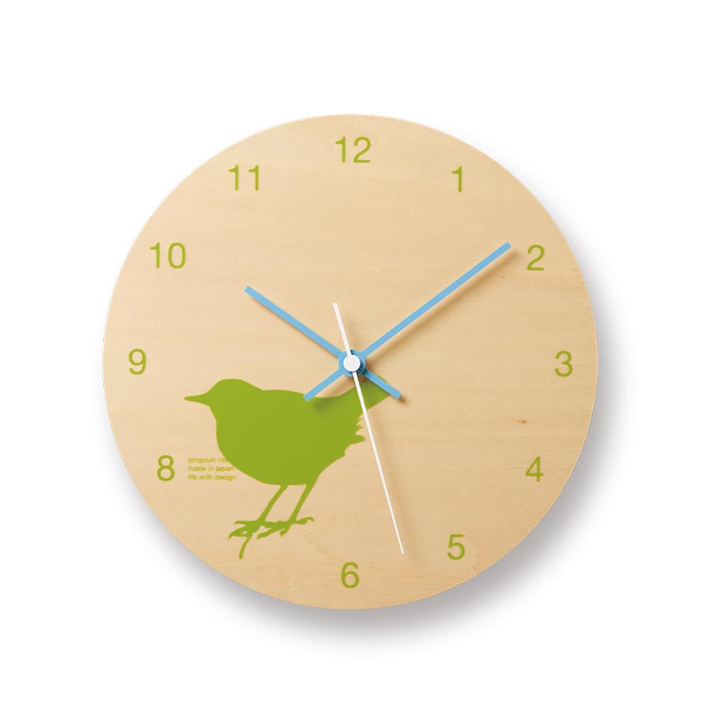 Lemnos|摩登動物圓形時鐘-小鳥
