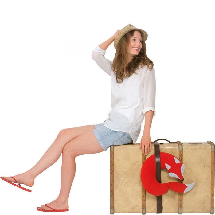 (複製)德國萊思綺Leschi 旅行枕頭/辦公室,教室午休枕頭(狐狸造型-紅色)