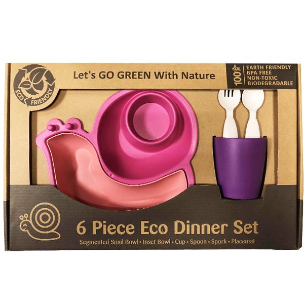 (複製)Lets' Go Eco|蝸牛造型兒童餐具組-藍色