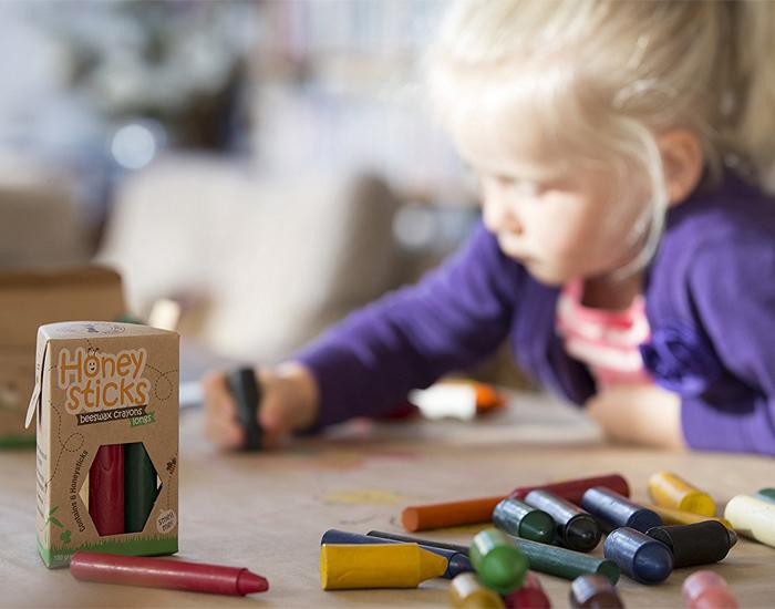 (複製)紐西蘭Honey Sticks Crayons│純天然蜂蠟無毒蠟筆 (胖短款)