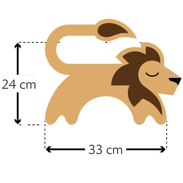 德國萊思綺Leschi|舒緩肩頸 熱敷/冷敷袋(獅子造型-膚黃色)