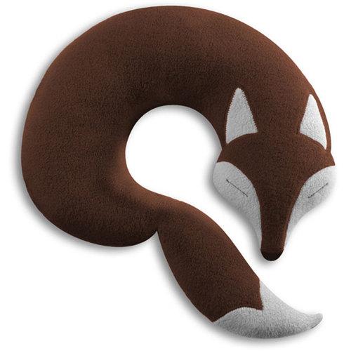 德國萊思綺Leschi|旅行枕頭/辦公室,教室午休枕頭(狐狸造型-咖啡色)