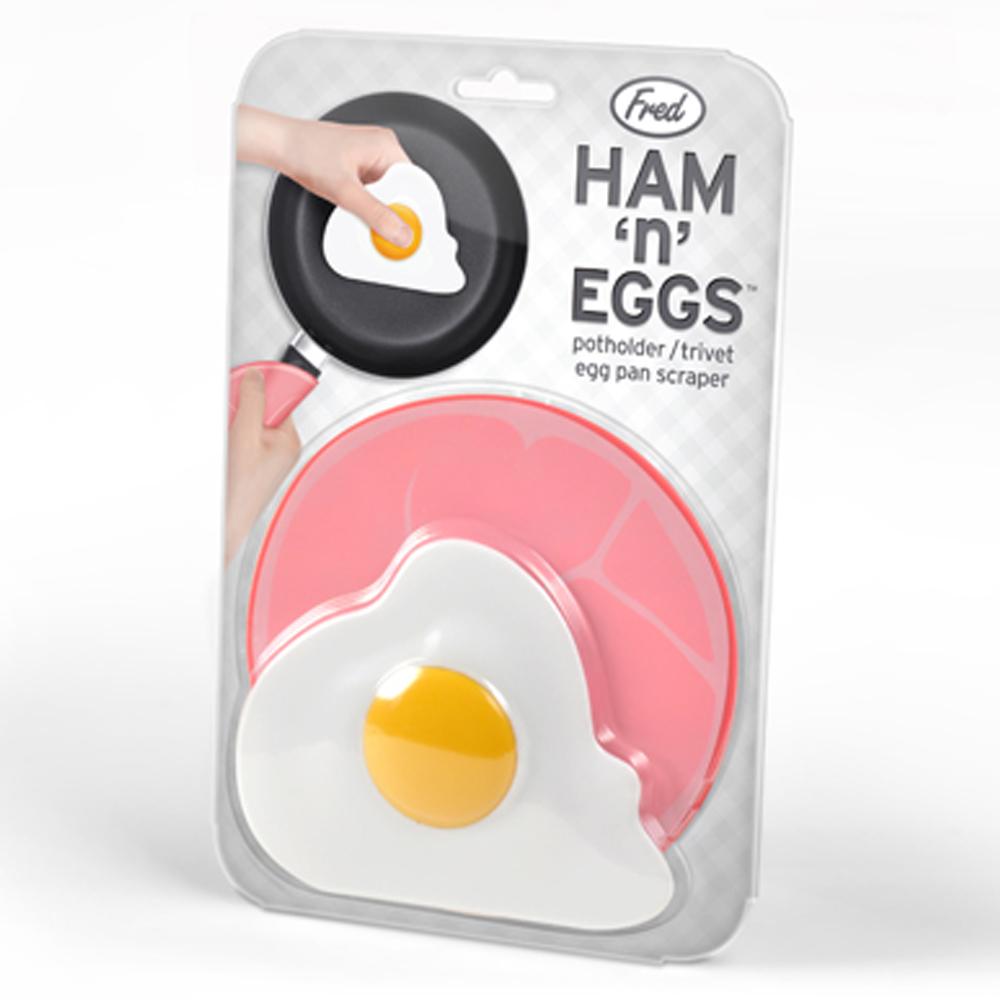 Fred & Friends   Ham n Eggs 火腿蛋造型隔熱墊