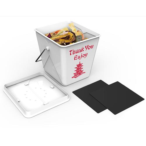 Fred & Friends|Take Out  廚餘收納桶 (中餐外帶盒造型)