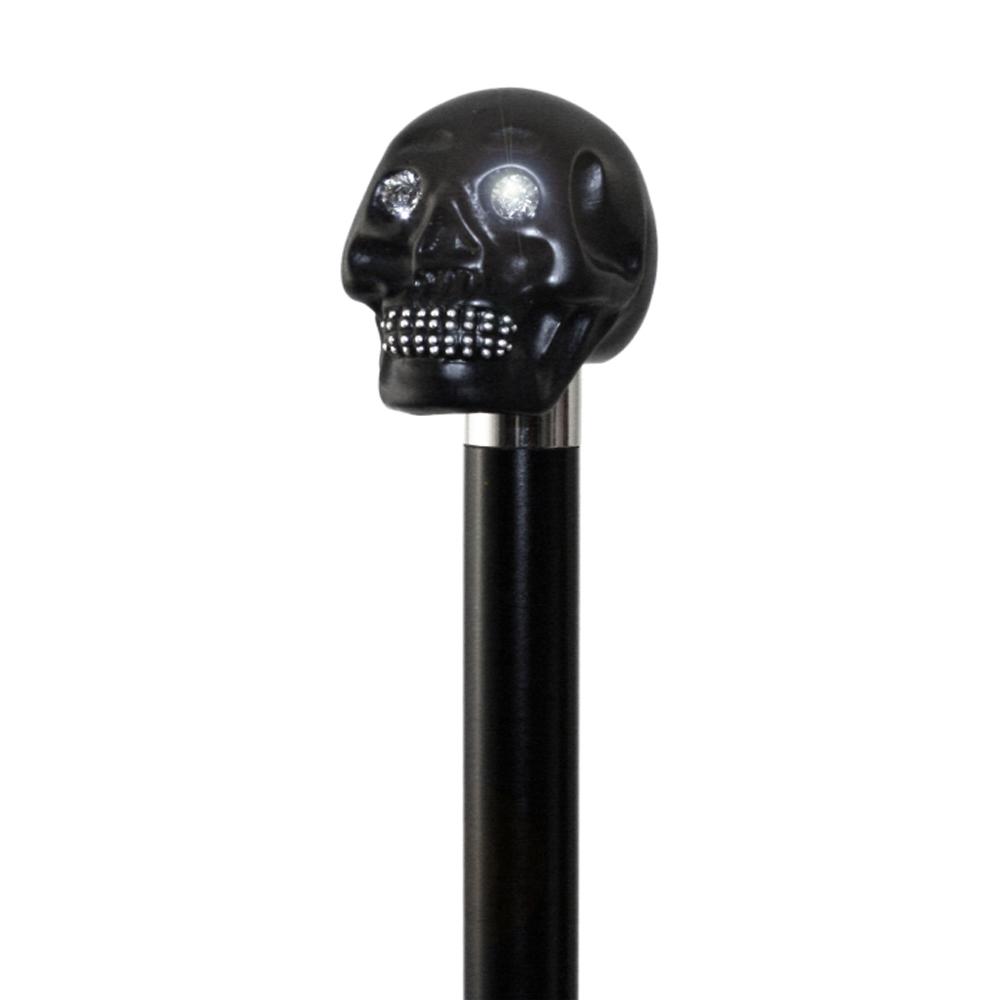 英國Classic Canes│黑骷髏頭鑲Swarovski水晶造型權杖- 1770