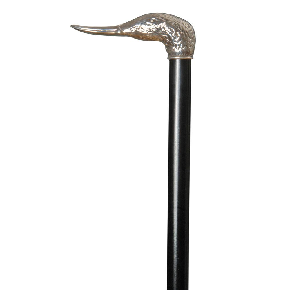 英國Classic Canes│銀色鴨頭造型權杖- 3806
