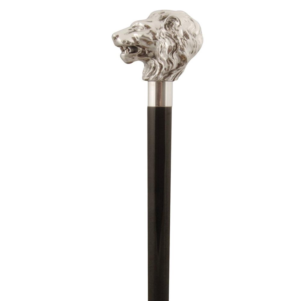 英國Classic Canes│銀色獅子頭造型權杖- 3807