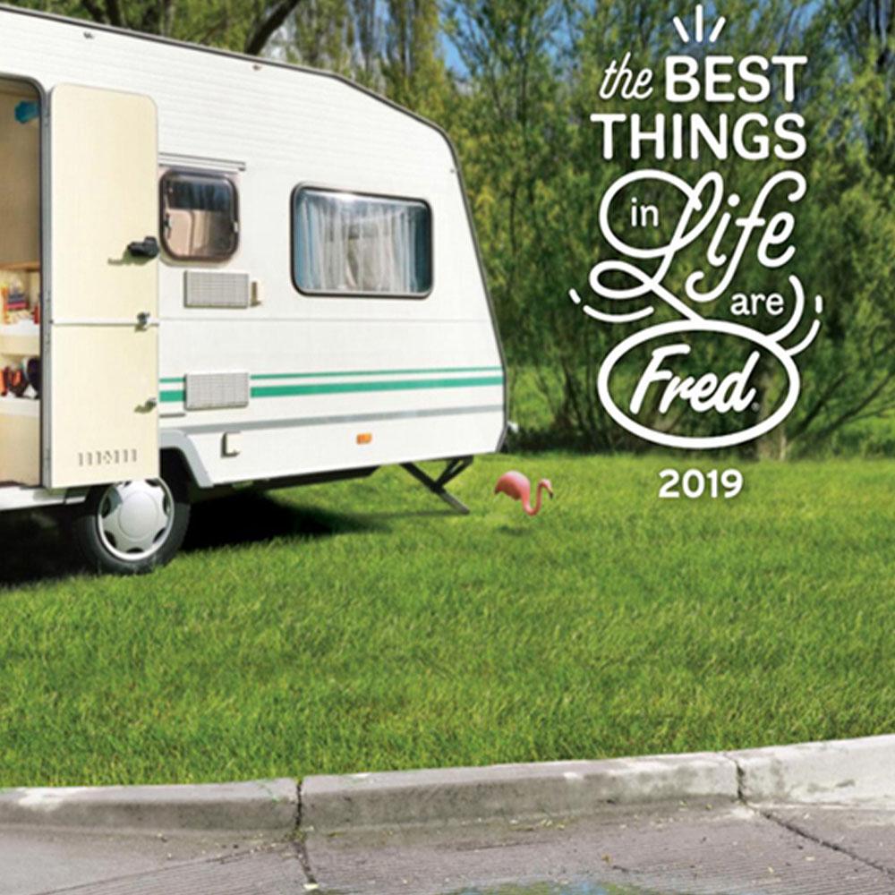 Fred & Friends|Happy Camper 經典露營車造型筆筒