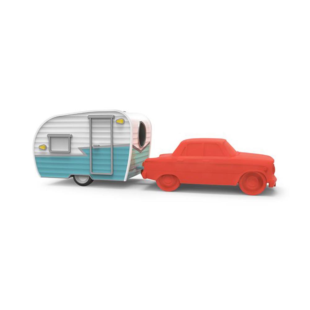 Fred & Friends|Happy Camper 經典露營車造型組 (削鉛筆機+橡皮擦)