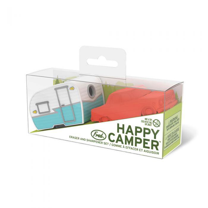 Fred & Friends | Happy Camper 經典露營車造型組 (削鉛筆機+橡皮擦)